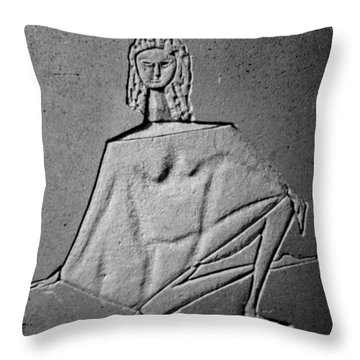 Ballerina In Repose Throw Pillow