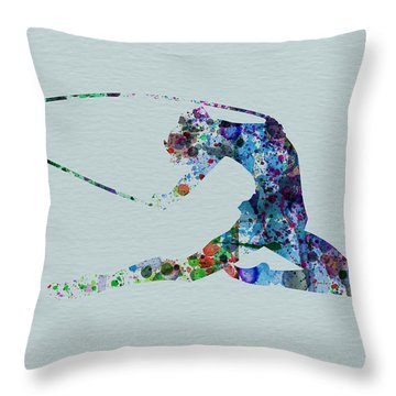 Ballerina On The Stage Throw Pillow