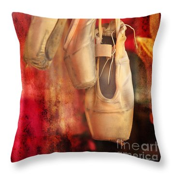 Ballerina Shoes Throw Pillow