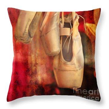 Ballerina Shoes Throw Pillow