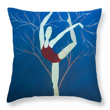Ballerina Tree Throw Pillow