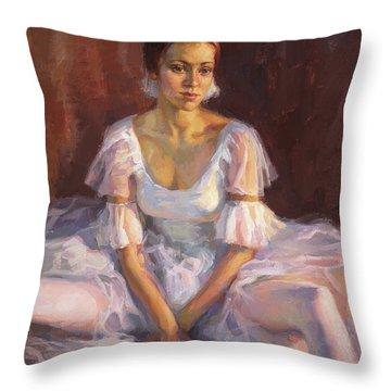 Ballerina's Daydream Throw Pillow