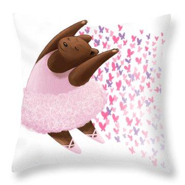 Ballet Bear Throw Pillow