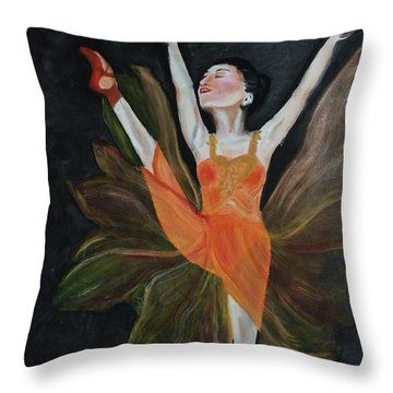 Ballet Dancer 1 Throw Pillow