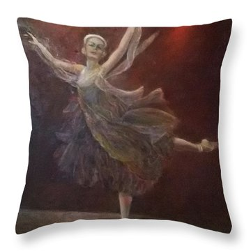 Ballet Dancer Anna Pavlova Throw Pillow