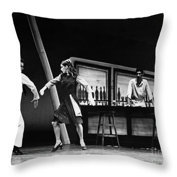 Ballet Fancy Free C1970 Throw Pillow by Granger