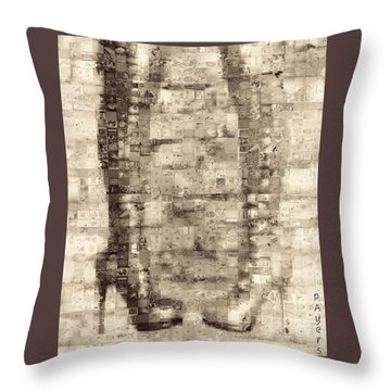 Throw Pillow featuring the photograph Ballet First Position No-nos by Paula Ayers