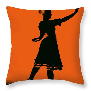 Throw Pillow featuring the photograph Ballet Girl by Donna Bentley