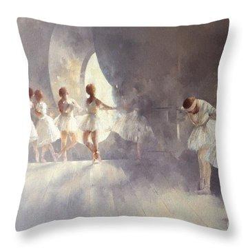 Ballet Studio  Throw Pillow