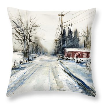 Ballina Road Throw Pillow