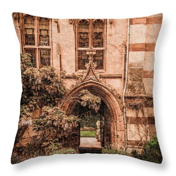 Oxford, England - Balliol Gate Throw Pillow