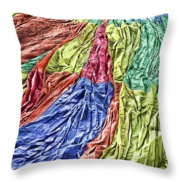 Balloon Abstract 1 Throw Pillow by Marie Leslie