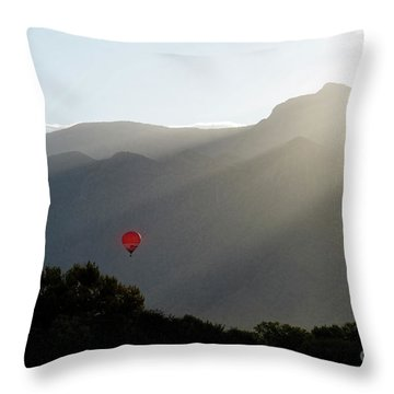 Balloon At Sunrise Throw Pillow