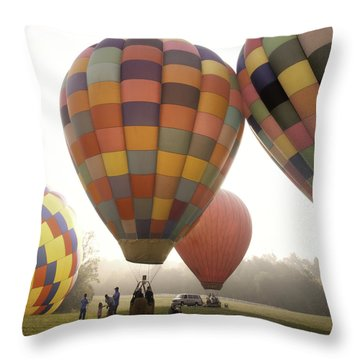 Balloon Day Is A Happy Day Throw Pillow by Rob Travis