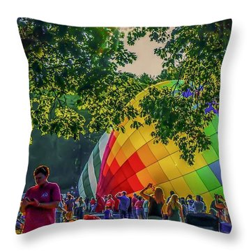 Balloon Fest Spirit Throw Pillow