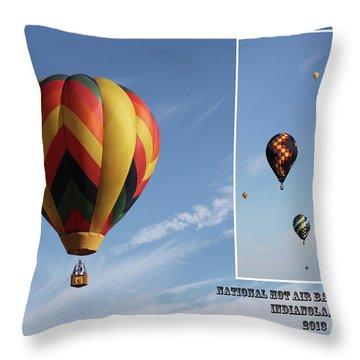 Balloon Festival Indianola, Iowa Throw Pillow