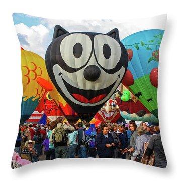 Balloon Fiesta Albuquerque II Throw Pillow