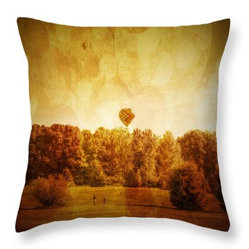 Balloon Nostalgia Throw Pillow by Michael Garyet
