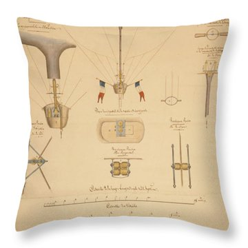 Balloon Patent Throw Pillow