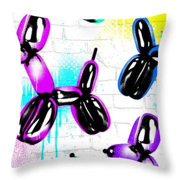 Balloon Pups Throw Pillow