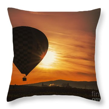 Balloon Ride Throw Pillow by Billie-Jo Miller