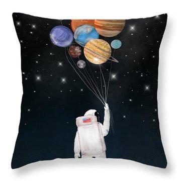 Balloon Universe Throw Pillow