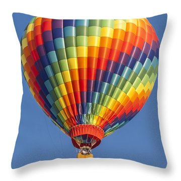 Ballooning In Color Throw Pillow