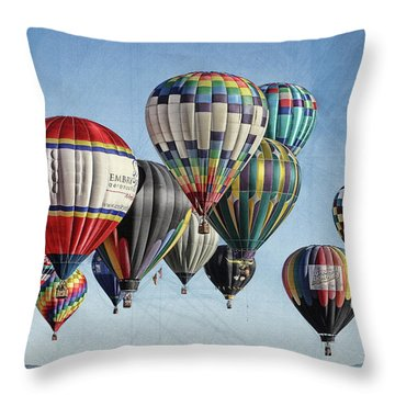 Ballooning Throw Pillow by Marie Leslie
