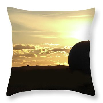Balloonrise Throw Pillow by Marie Leslie