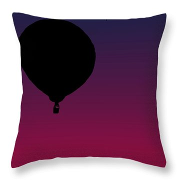 Balloons At Dusk Throw Pillow by Jera Sky
