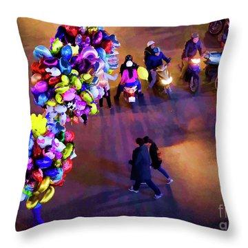 Balloons Hanoi Hoan Kiem Lake  Throw Pillow