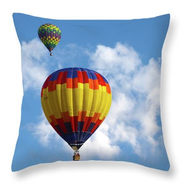 Balloons In The Cloud Throw Pillow by Marie Leslie