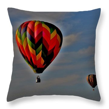 Balloons In The Sky Throw Pillow