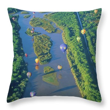 Balloons Over The Rio Grande Throw Pillow