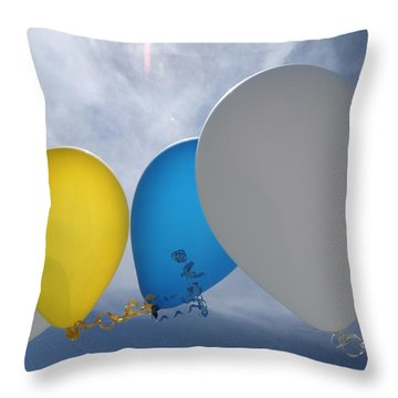 Balloons Throw Pillow by Patrick M Lynch