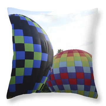 Balloons Waiting For The Weather To Clear Throw Pillow
