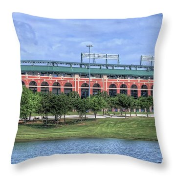 Ballpark In Arlington Now Globe Life Park Throw Pillow