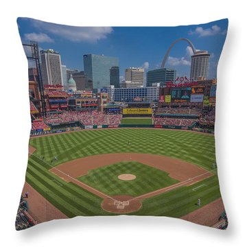 Ballpark Village Cardinal Nation Busch Stadum St. Louis Cardinals April 2015 #2 Throw Pillow