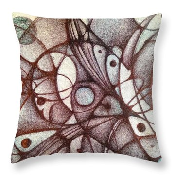 Ballpoint On Canvas  Throw Pillow