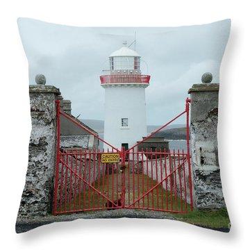 Ballyglass Lighthouse Throw Pillow