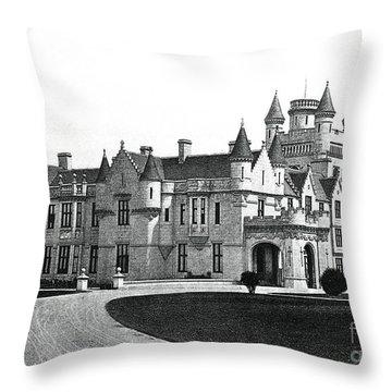 Balmoral Castle  Throw Pillow by English School