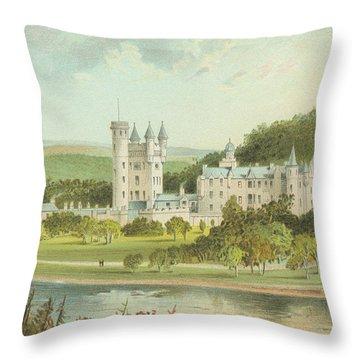 Balmoral Castle, Scotland Throw Pillow by English School