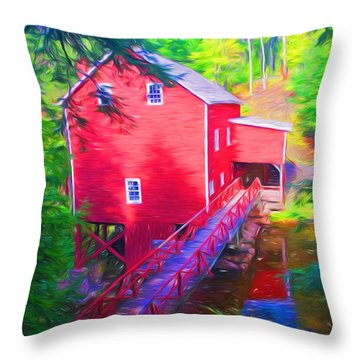 Balmoral Grist Mill Museum Throw Pillow