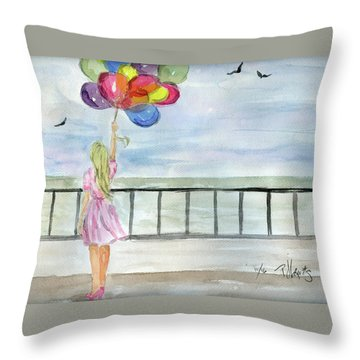 Baloons Throw Pillow