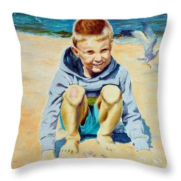 Baltic Beach Throw Pillow