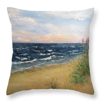 Baltic Coast Throw Pillow