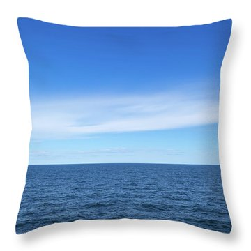 Baltic Sea And Blue Sky Throw Pillow