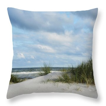 Baltic Sea Throw Pillow by Joachim G Pinkawa