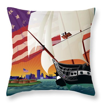 Baltimore - By The Dawns Early Light Throw Pillow