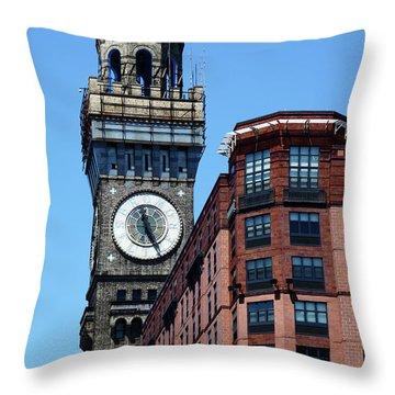 Baltimore Bromo Seltzer Tower Throw Pillow